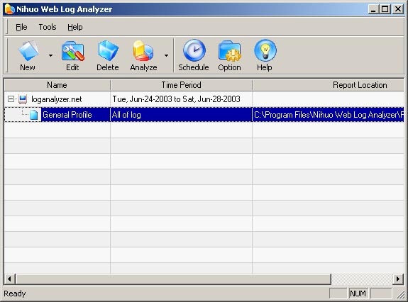 Click to view Nihuo Web Log Analyzer for Windows 4.13 screenshot